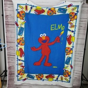 2002 sesame workshop fleece blanket